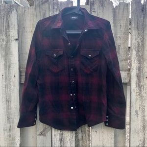 Talula flannel S burgundy black